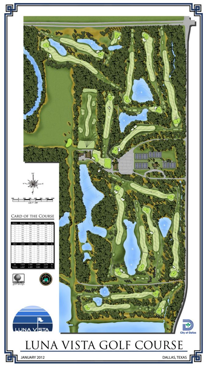 Luna Vista Golf Course Layout